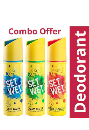 Paytm Mall - Buy Set Wet Avatar Deodorant (Pack of 3) in Just Rs.201