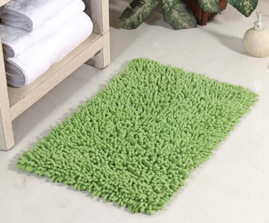Pepperfry -Green Cotton Bath Mat From Rs.89