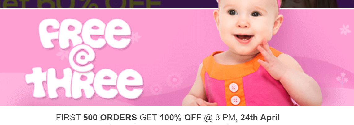 First Cry Coupons - Get Flat 100% Off on First Cry with Coupon