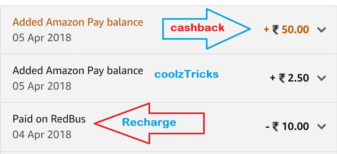(Proof Added)Amazon Redbus Offer - Recharge Of Rs 10 & Get Rs 50 on Amazon Pay balance
