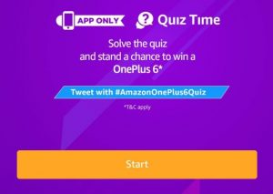 (All Answers) Amazon One Plus 6 Quiz Answers