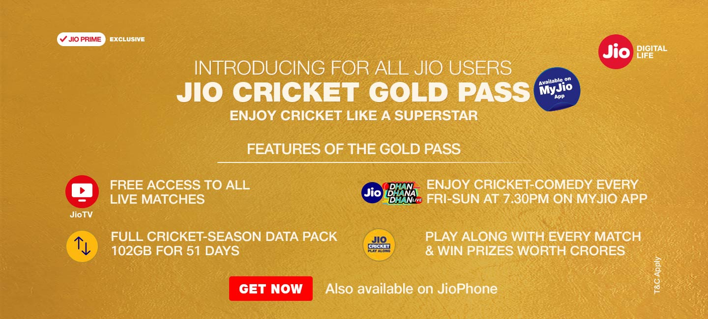 Jio Cricket Plan - Get Rs.2 GB/Day for 51 Days in Rs.251 with IPL Free Streaming