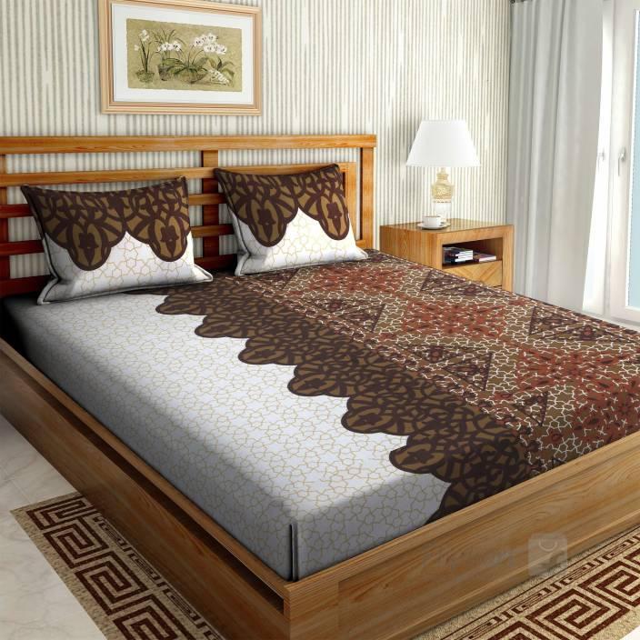 Flipkart - Buy 1 Get 2 Double Floral printed Bedsheet