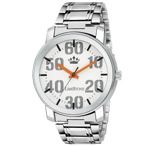 Get Limestone Analogue White Dial Men's Watch at Rs.199 Only