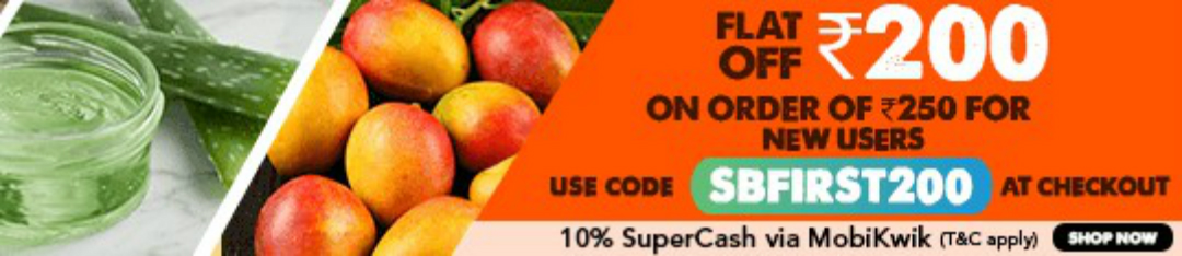 SaleBhai Offer - Flat Rs.200 off on order Rs.250 for New User