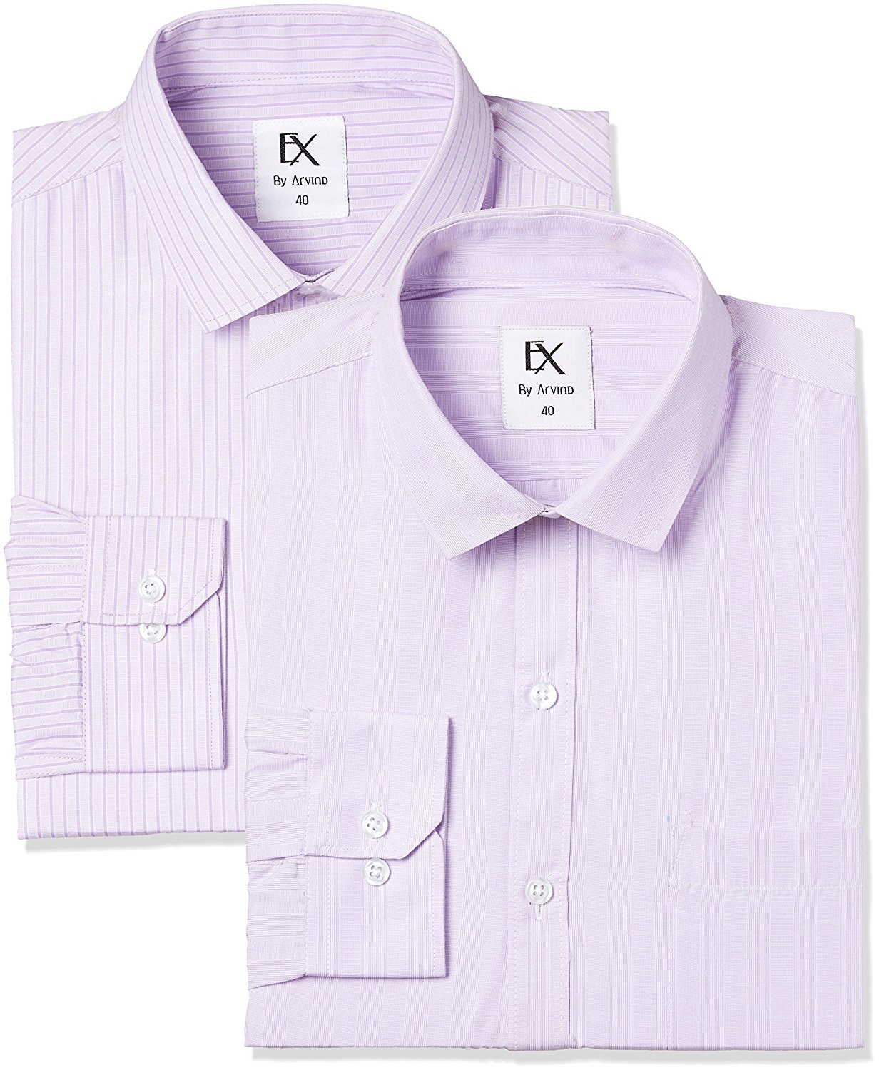 Amazon - Buy Ex by Excalibur Men's Formal Shirt (Pack of 2) in just Rs.348
