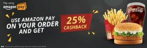 Mcdelivery Offers - Get 25% Cashback from Freecharge and Amazon Pay