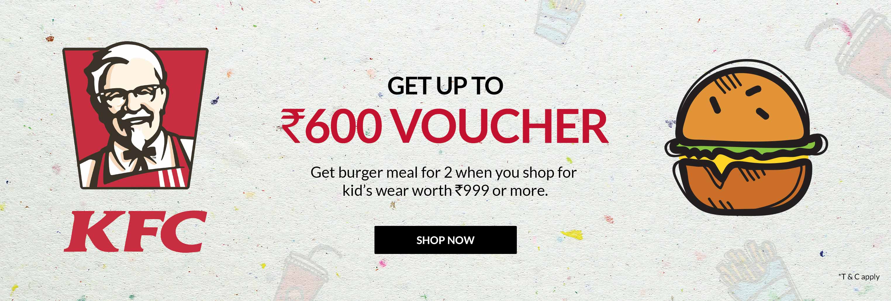 Get Free KFC Voucher up to Rs.600 on Shopping from Max Fashion