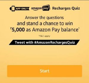 (All Answers) Amazon Pay Recharge Quiz Answers - 8th May