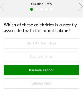 (All Answers)Amazon Lakme Quiz - Answer and Win Rs.5000
