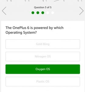 (All Answers) Amazon OnePlus 6 Quiz Answers