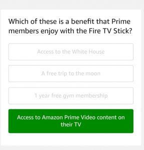 (All Answers)Amazon Fire TV Stick Quiz Answers
