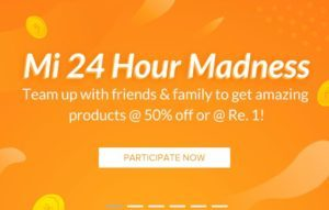 Mi 24 Hour Madness - Get Mi Band , Mi Earphones & Mi Backpack In Just Rs.1