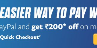 Paypal Bookmyshow Offer - Pay with Paypal and Get Rs.200 Off