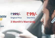 DroomBluetooth Headset Flash Sale- GetBluetooth Headset in Rs.99