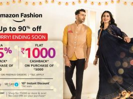 Amazon GIS Clothing Offers - Get up to 80% Off +15 % Cashback on Branded Clothing