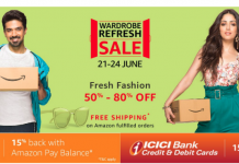 Amazon Fashion Wardrobe Refresh Sale - 80% Off+Extra 15% Off+Rs.100 BMS+Free Shipping