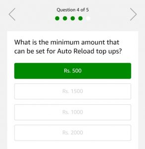 Amazon Auto Reload Quiz