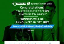 AmazonSports Fashion Quiz