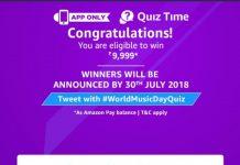 AmazonWorld Music Day Quiz Answers