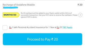 Paytm Free Recharge Offer - Get Rs 20 Free Recharge