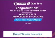 (All Answers)Amazon Huawei P20 Pro Quiz - Answer & Win Huawei P20 Pro