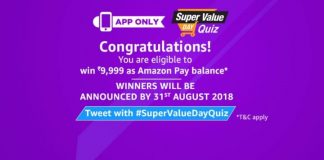 (All Answers)Amazon Super Value Day Quiz Answers