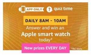 AmazonApple Smart Watch Quiz