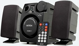 Amazon Deal - GetIntex 2.1 Channel Multimedia Speakers (Black) at Rs.899 Only