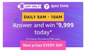 Amazon 1st August Quiz Answers