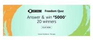 AmazonFreedom Quiz Answers