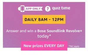 AmazonBose Soundlink Revolve+ Quiz Answers