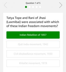 (All Answers)AmazonFreedom Quiz - Answer & Win Rs.5000
