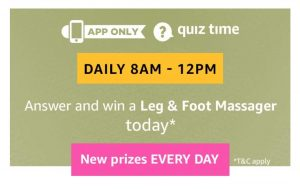 Amazon Leg & Foot Massager Quiz Answers