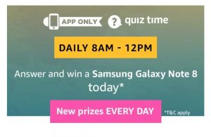 Amazon Samsung Galaxy Note 8 Quiz