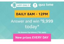 Amazon 13th August Quiz Answers