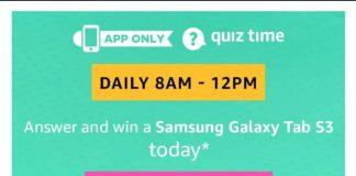 AmazonSamsung Galaxy Tab S3 Quiz