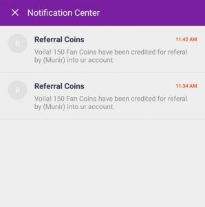 Fankick App Refer & Earn
