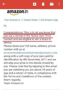 Proof of Amazon Quiz: