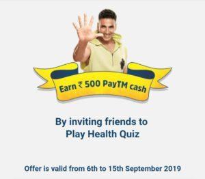 GOQii - Play Quiz & Earn Prizes worth Rs.50000+   Free Rs.500 Paytm