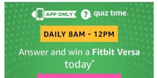 Amazon Fitbit Versa Quiz