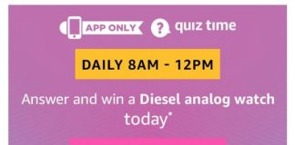 Amazon Diesel Analog Watch Quiz
