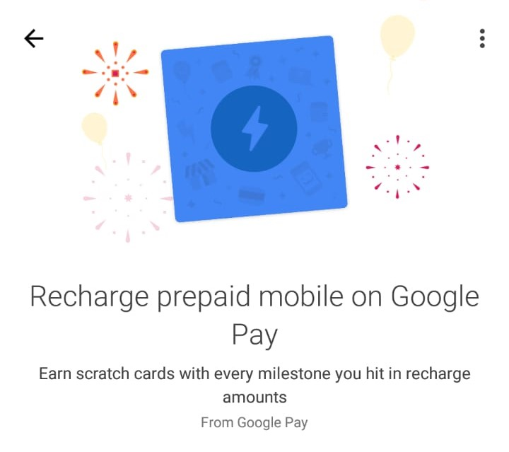 Google Pay Recharge Offer