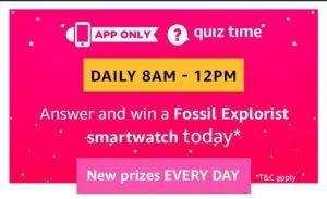 AmazonFossil Explorist Smartwatch Quiz