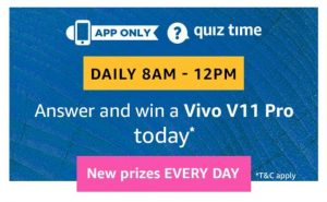 Amazon Vivo V11 Pro Quiz Answers