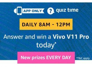 AmazonVivo V11 Pro Quiz Answers