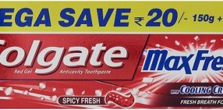 (*Price Error*)Amazon Loot-  Colgate Maxfresh Red Gel Toothpaste - 300 g in Just Rs.92