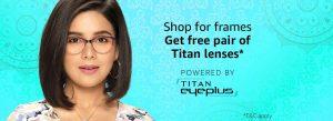Buy Titan & Fastrack Eyewear Frame and Get Lens Free