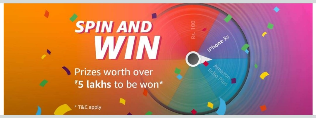 dc04a2e046dbc3 [Back] Amazon Spin The Wheel & Win Free iPhone Xs, Amazon Pay Balance