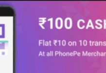 PhonePe Merchant Offer - Get Rs.10 Cashback 10 Times on Order of Minimum Rs.20